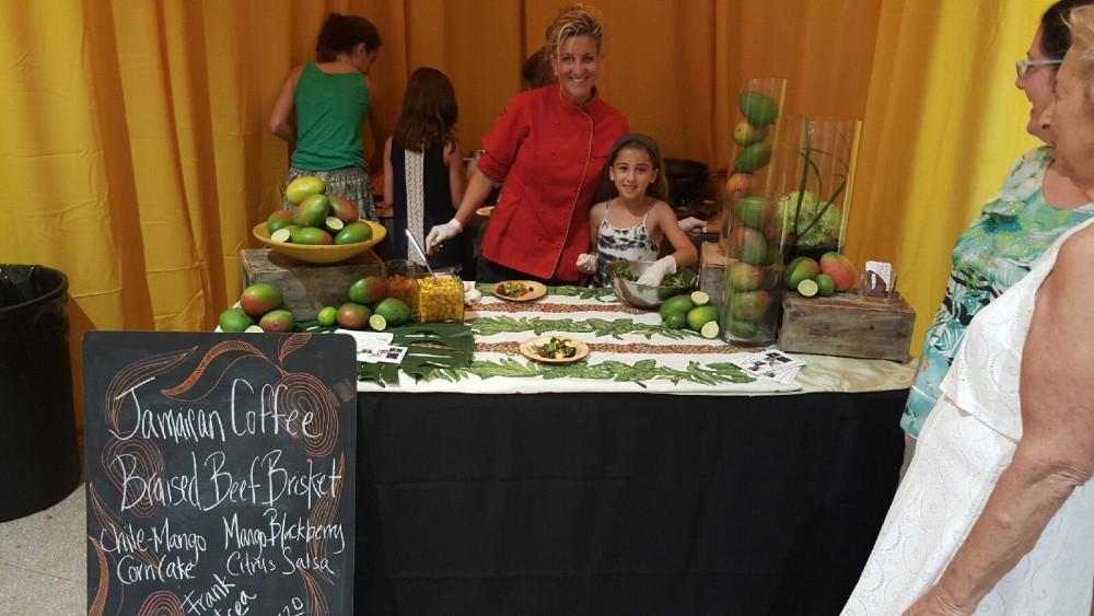 Andrea Randazzo of Creative Tastes Catering at miami mango festival