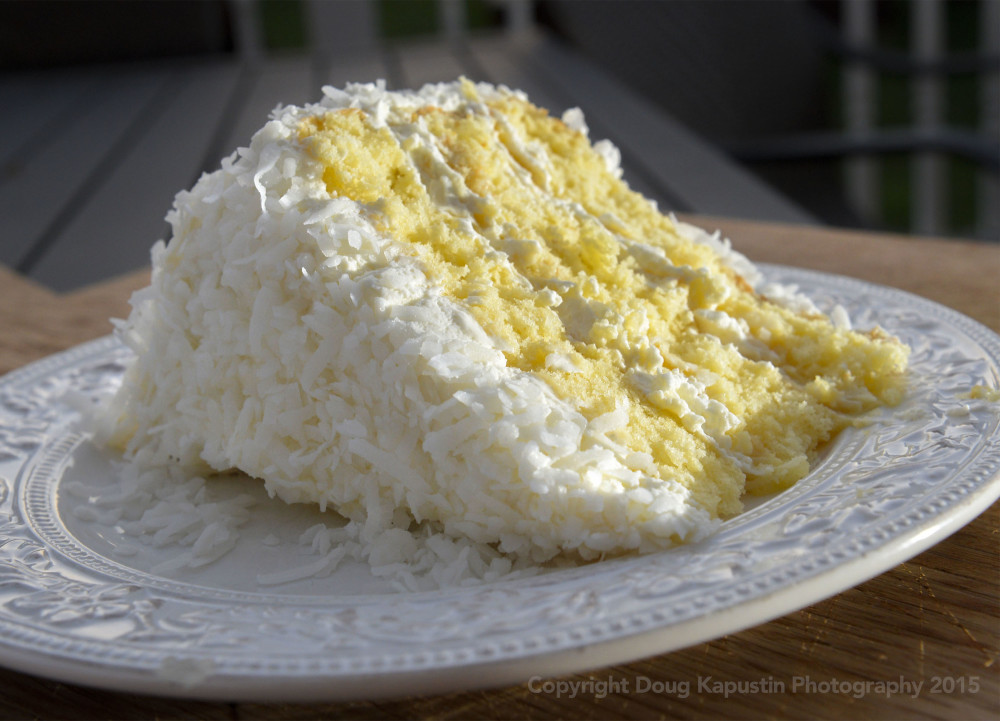 Coconut Cake With Vanilla Pudding Filling