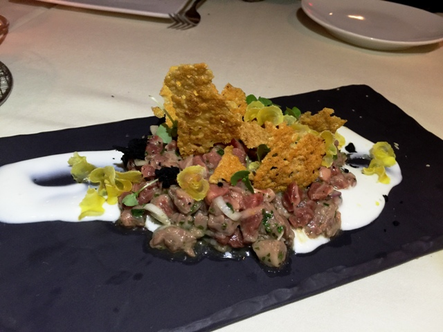 Miami Spice First Course Beef Tartar