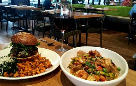 True Food Kitchen Burger true food kitchen- bison burger & tagliatelle - hedonist / shedonist