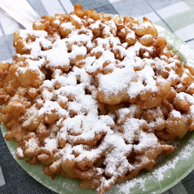 honey nut cheerios funnel cake