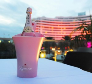 Rooftop view from La Cote at LANSON PINK CHAMPAGNE-Photo Michelle Delmas