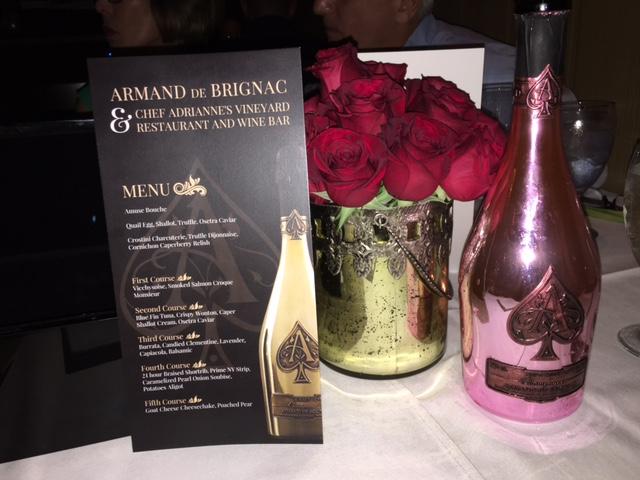 Armand de Brignac Champagne Pairing at Chef Adrianne's Vineyard