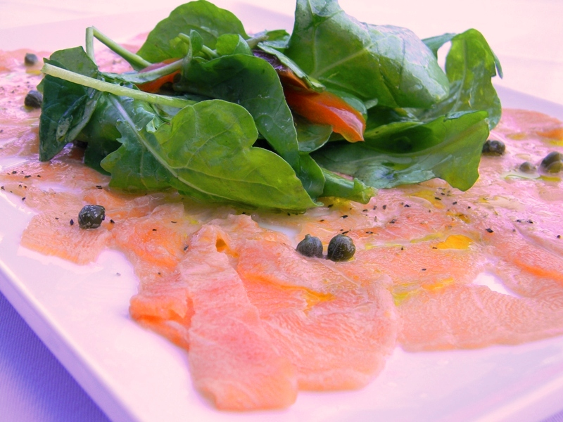 Tuscan Way - Carpaccio di Salmone- courtesy of Tuscan Way restaurant