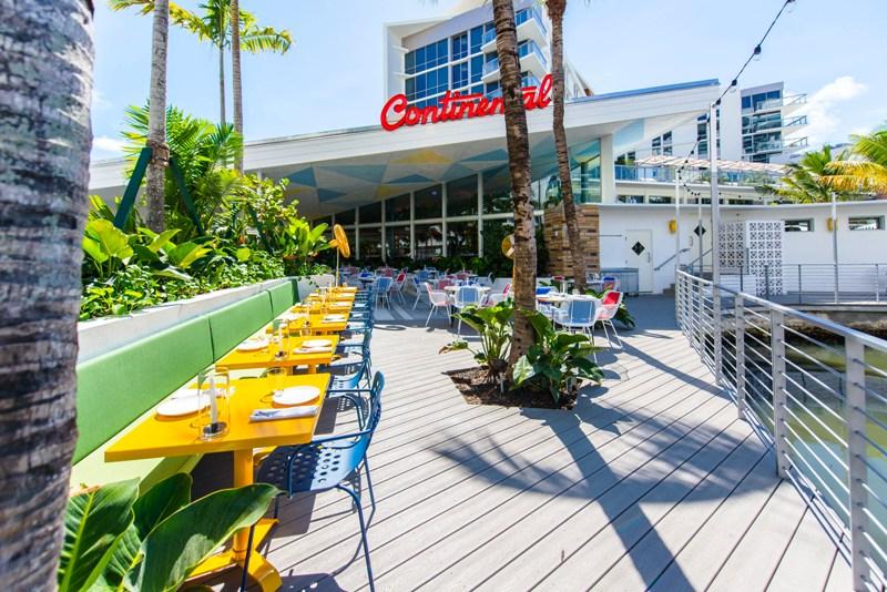 Continental Miami - patio - courtesy of Continental Miami