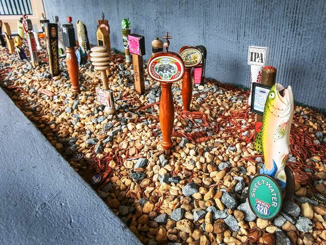 Filling Station Fort Lauderdale – patio beer taps - courtesy of The Filling Station and Garage