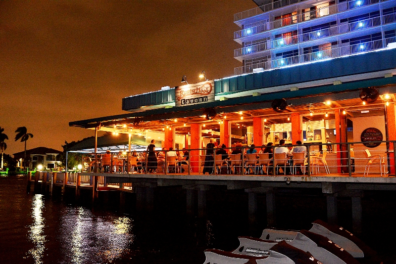 Rusty Hook Tavern - dockside patio - courtesy of Rusty Hook Tavern