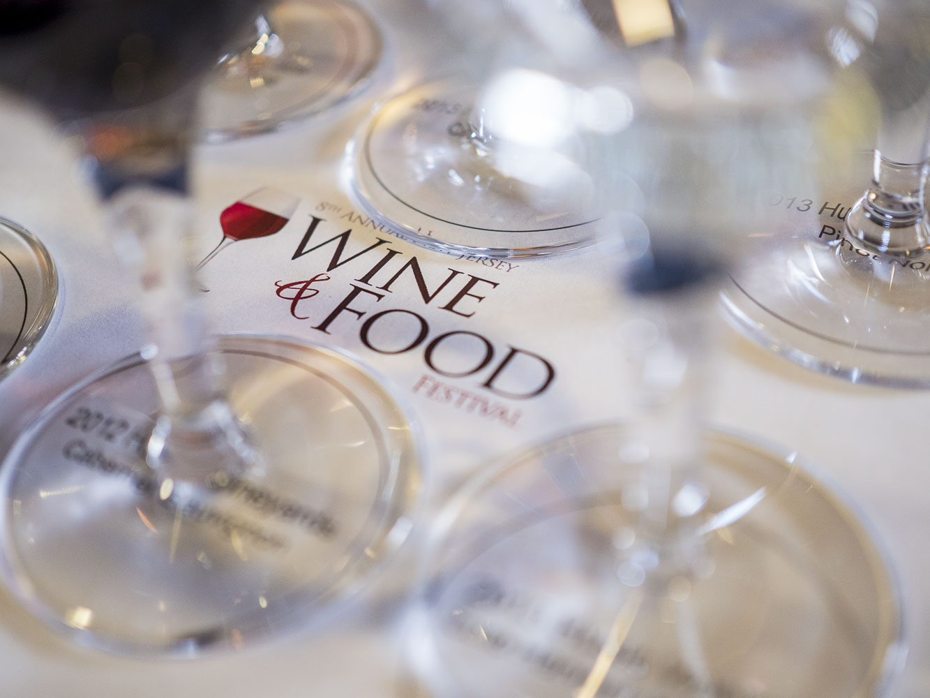 NJWFF Wine glasses on logo