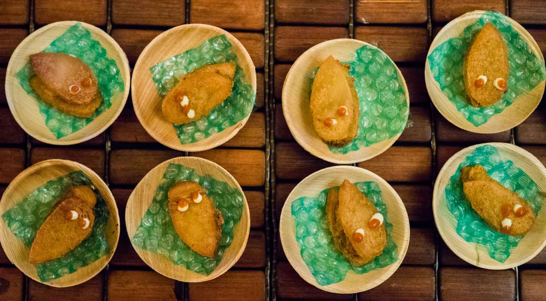 Grand tasting NJWFF orange squirrel shrimp toast