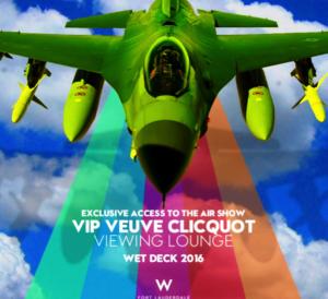 W Hotel Fort Lauderdale Veuve Clicquot VIP Viewing Lounge - W Hotel Wet Deck - veuve cliquot