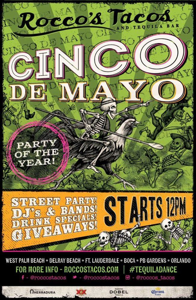 Best Cinco de Mayo Miami – courtesy of roccos tacos