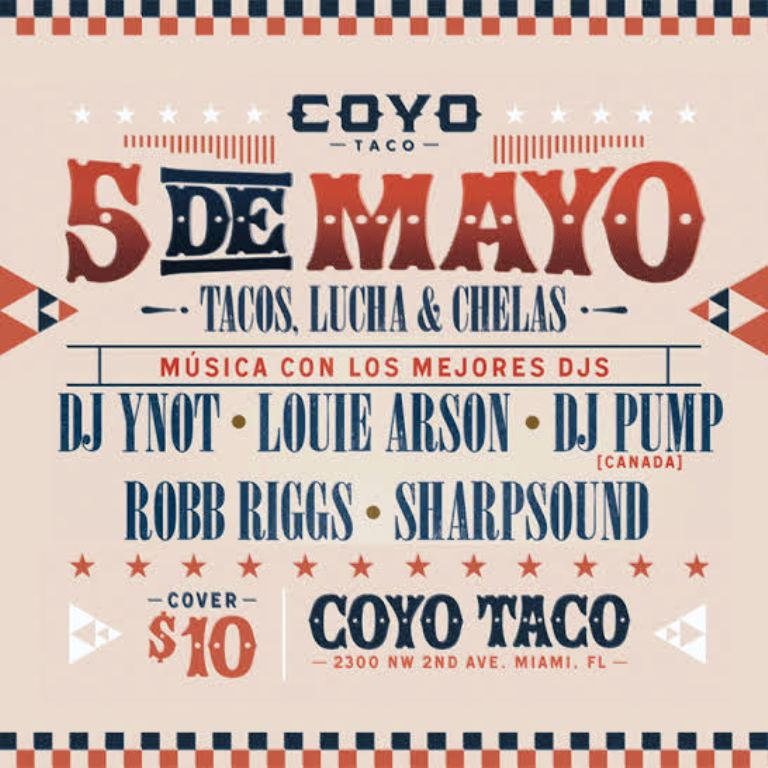 Best Cinco de Mayo Miami – coyo taco flyer