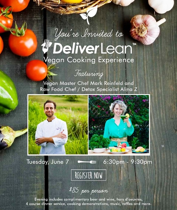 DeliverLean Vegan Cooking event flyer 1