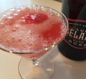brunch cocktails Luc Belaire Rose Raspberry Fizz