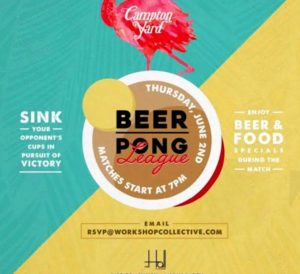 sunny beer pong flyer