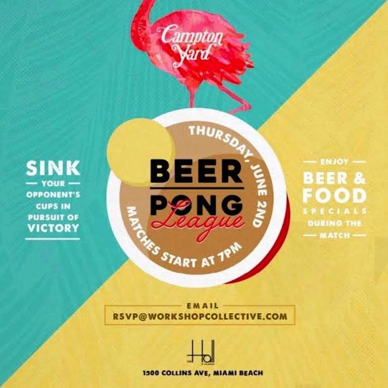 Sunny Beer Pong Flyer