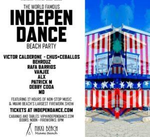 nikki beach 4th Flyer - Miami Independance Beach Party - July 4th – courtesy of Nikki Beach Miami