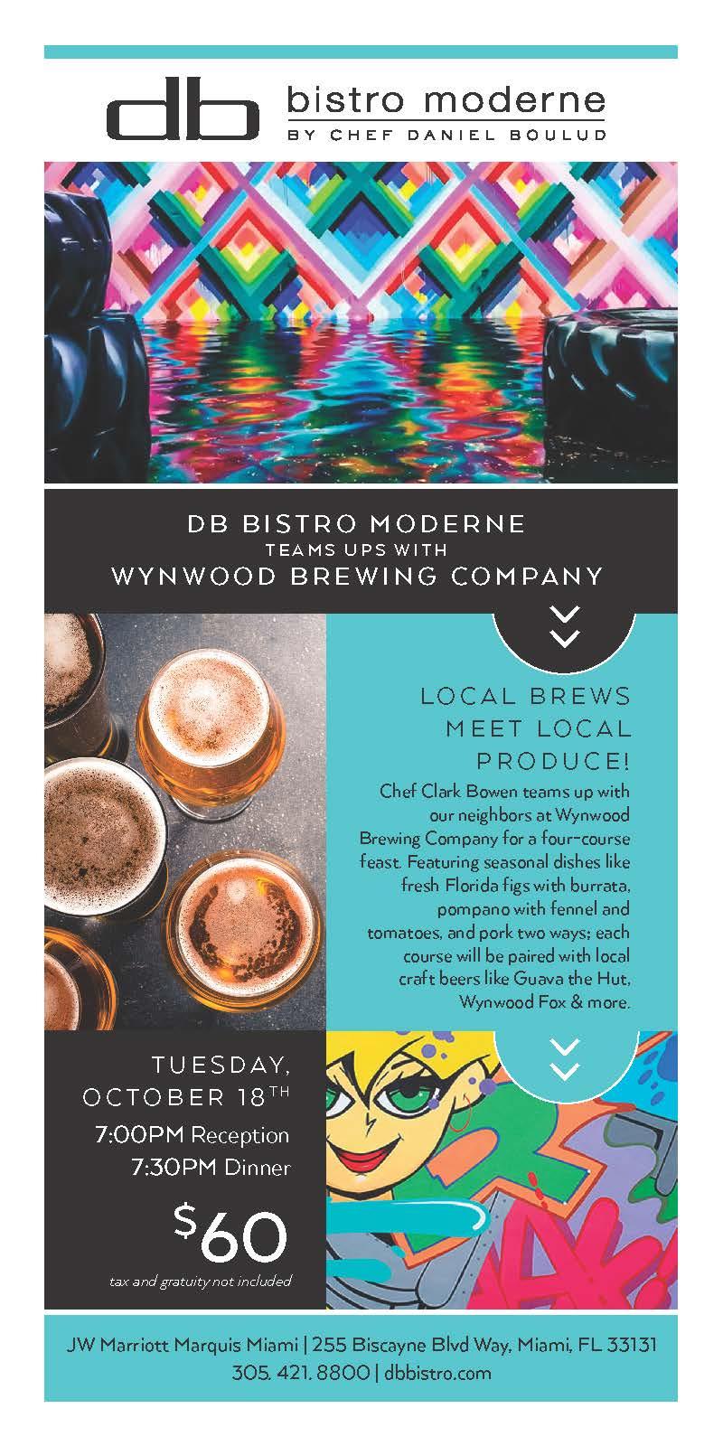 db Bistro Moderne Dinner with Wynwood Brewing Compan