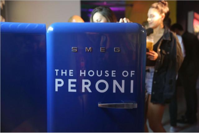 House of Peroni beer fridge